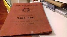 SOCIETA' NEBIOLO TORINO ISTRUZIONI DI SERVIZIO MACCHINA AUTOMATICA NEBY PVD 1948