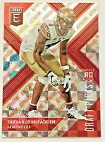 2018 PANINI ELITE DRAFT PICKS TARVARUS MCFADDEN ROOKIE #D/49 RC