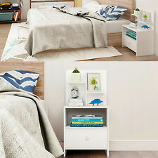 Modern Drawers Bedside Cabinet Nightstand Storage Bedside Table Wood Bedroom