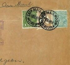 Australia Cover 1931 First Flight Cachet Gb Air Mail 6d Roo 1s/4d Sideface Ab379
