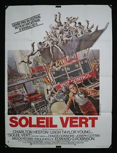 SOLEIL VERT - Film de Richard FLEISCHER - 1973 - Affiche cinéma 120 x 160cm