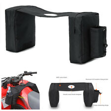 Black Oxford Cloth Motorcycle Gas Tank Saddle Bag w/ Water Bottle Bag Waterproof