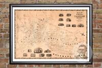 Vintage Trenton, NJ Map 1849 - Historic New Jersey Art Old Victorian Industrial