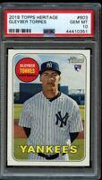 2018 Topps Heritage Gleyber Torres Rookie PSA 10 Gem Mint RC NY Yankees #603