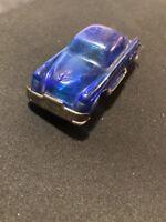Vintage Japan Plastic Toy Car Tin Plate Base US Limousine Blue Buick Transparent