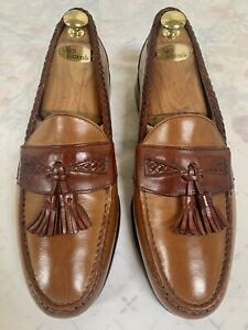 ALLEN EDMONDS Maxfield Penny Loafers Brown Leather Shoes Size 12 D