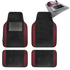Burgundy Carpet Floor Mats For Car Sedan Suv Van Universal Fitment Free Dash Mat Fits 2012 Toyota Corolla