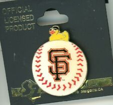 SF Giants Duck On Baseball Pin Stadium Exclusive 2002 SZ New On Card sfg108