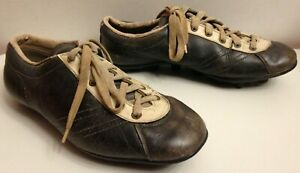 RARE CHAUSSURES FOOTBALL CUIR HUNGARIA VINTAGE TAILLE 43
