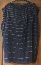 Ted Baker Navy Silk Top, Size 14