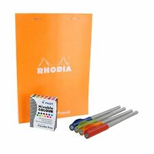 Pilot Parallel Calligraphy Pen Set with Rhodia Orange Notepad and Ink Cartridges