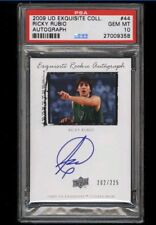 2009-10 Exquisite Collection Ricky Rubio ROOKIE AUTO /225 #44 PSA 10 GEM POP 1/1