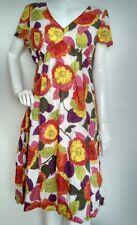 BODEN riviera dress size 12R --VGC-- 100%Cotton  knee length floral short sleeve