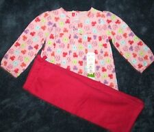 Jumping Beans Girls 2 Piece Pink Warm Swing Top Pants set Size 18 Months NWT