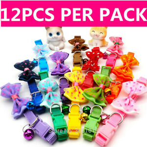 12 PCS Lot of Wholesale Dog Collar Small Puppy Cat Necklace Buckle Nylon Collar