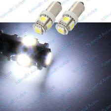 (2) Xenon White 5-SMD High Power Error Free H6W 64132 BA9s LED Bulbs