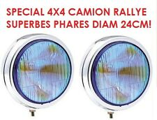 2 SUPER PHARES 24CM CHROME 4X4 RALLYE HDJ KDJ JEEP PATROL TYPE LIGHTFORCE HELLA