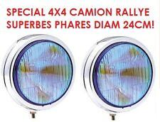 2 SUPER PHARES 24CM CHROME 4X4 RALLYE HDJ KDJ JEEP PATROL TYPE LIGHTFORCE HELLA