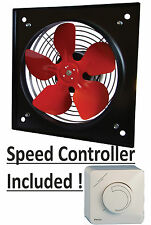 """INDUSTRIAL EXTRACTOR FAN 8"""", 200mm, 240 V, 1170 m3/h with speed cotroller"""