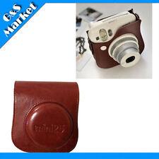 Photo camera leather bag (Brown) for Fuji fujifilm instax polaroid mini25