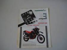 advertising Pubblicità 1986 MOTO CAGIVA ELEFANT 650