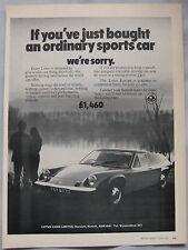 1971 Lotus Europa Original advert