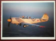 POSTCARD AIR YAKOVLEV YAK 52 PLANE  WARBIRDS GHOSTS FROM THE PAST
