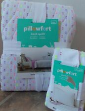 Pillowfort Bright Dash Quilt + Sham Set ~ NEW Twin Pink Purple