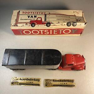 No. 589 TOOTSIE TOY VAN with Original Box