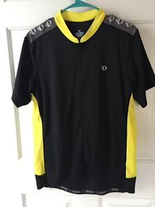 Pearl Izumi: BLACK AND YELLOW 1/2 Zip Cycling Jersey/Shirt: MEN'S XL