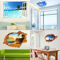 Stickers Mural Wall View Window Decal Art Vinyl Decor 3D Removable Home Stickers
