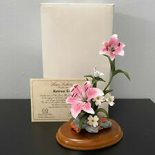 Lenox Rubrum Lily Flower Floral Sculpture Fine Bone China Mint in Box with Coa