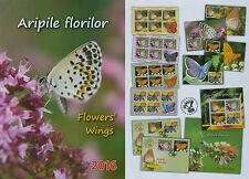 Rumänien 2016 Schmetterlinge,Butterfly,Papillon Mi.7060-63,Zf.,KB,Block 663,FDC