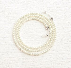 White Pearl Glasses Chain Pearl Eyeglass Necklace Holder Pearl Lanyard 2 Colors