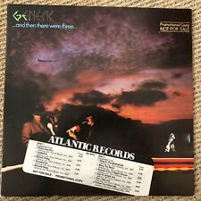 Genesis - ...And Then There Were Three - Scarce 1978 USA gold stamp promo LP
