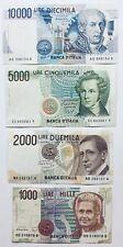 4 x ITALY BANKNOTES LIRA LIRE ITALIA BANCONOTA PRE-EUROS EU ITALIAN PAPER MONEY