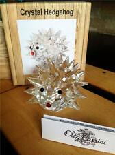 Oleg Cassini Crystal Glass Desk Paperweight Hedgehog Figure
