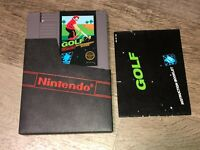 Golf w/Manual & Sleeve Nintendo Nes Cleaned & Tested Authentic