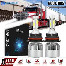 2Pcs 60W White Light LED 9007 Hi/Low Beam Headlight Bulbs For Mack CH 613 SFA