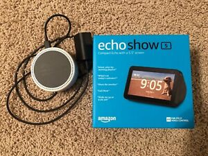 New Amazon Echo Show 5  - Charcoal with a white echo dot 2nd Gen.