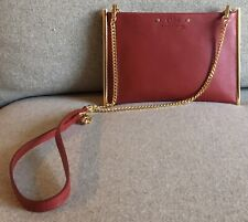 NWT CHLOE Small Roy Red Leather Crossbody Shoulder Bag Clutch Pouch Gold Chain
