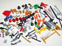 LEGO Accessory Bundle Helmets Hats Handcuffs Tools Flames Vader Clone Dog