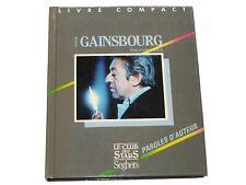 Lucien Rioux SERGE GAINSBOURG Paroles d'auteurs Le Club des Stars Seghers 1987