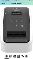 Brother Ql-810w Ultra-fast Label Printer With Wireless Networking - Black/White