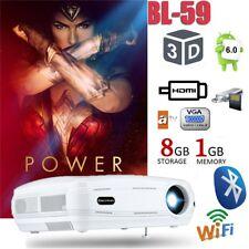 3D Beamer 3200lm LED 1080P Heimkino WIFI Android Projektor 1+8G 200'' Multimedia