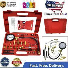 140 PSI Gasoline Fuel Injection Pump Pressure Gauge Tester Test Tool Kit w/ Case
