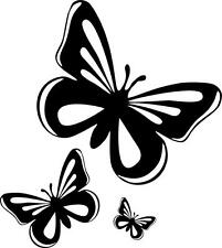 Set 4x sticker decal car laptop macbook kitchen butterfly pink room funny ref2