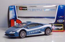 """Bburago 30310 Lamborghini HURACAN """"POLIZIA"""" - METAL Scala 1:43"""