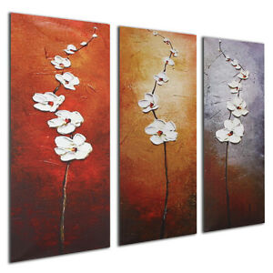 3 Panel Modern Canvas Print Painting Colorful Flower Wall Picture Decor
