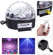 Remote USB/SD Card MP3 Magic Crystal Led Ball Light RGB For Disco DJ Party Xmas